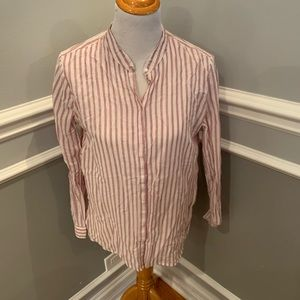 Zara woman button down shirt size L